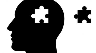 puzzelstukje in hoofd